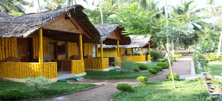 Savithri Inn Bamboo Cottage Property View